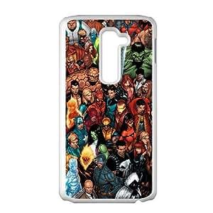 LG G2 Cell Phone Case White Marvel comic bkdi