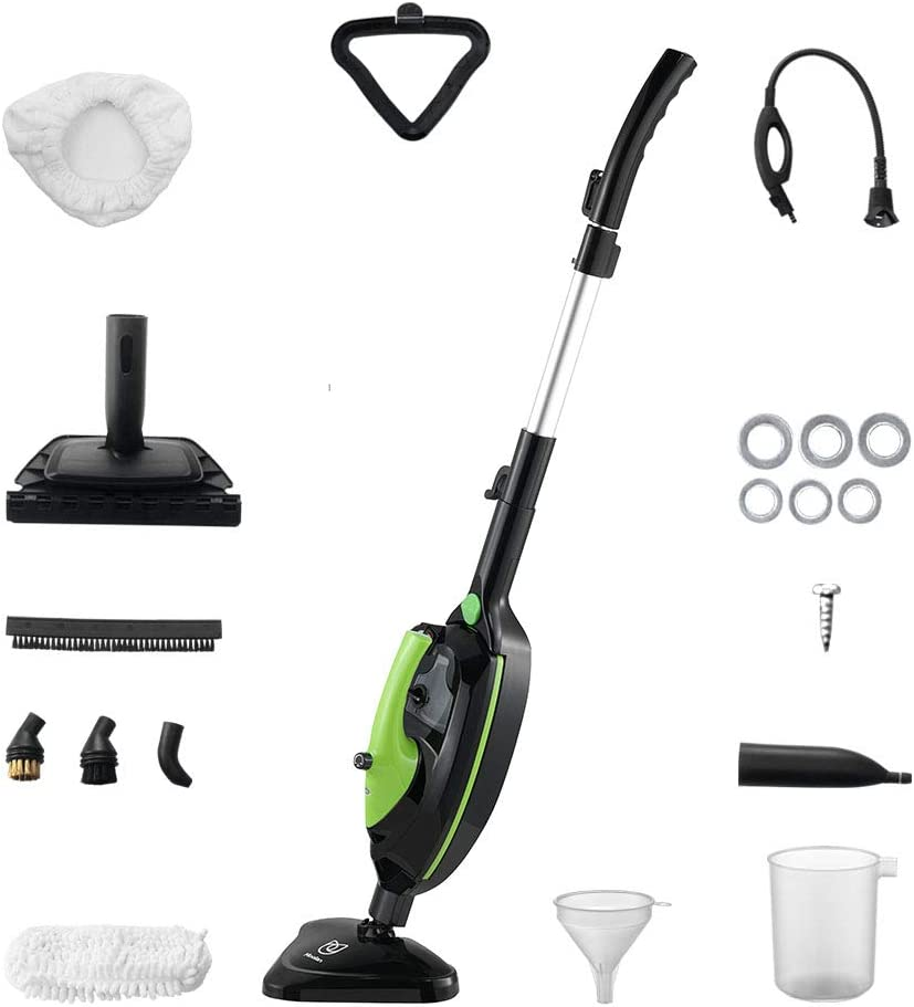 Moolan 1500W Powerful Non-Chemical 212F Hot Multifunctional Steam Mops