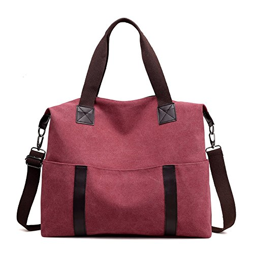 Canvas Everyday Candy Capacity For Casual Use Asdflina Tote Vintage Bag Commuting Large Suitable T10wS