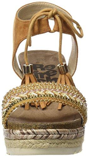 Refresh 64086, Sandalias con Punta Abierta Para Mujer Marrón (Camel)