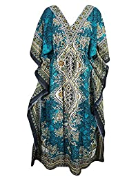 Royal Kurta Women's Dashiki Kaftans Viscose Kimono Lounger Dress