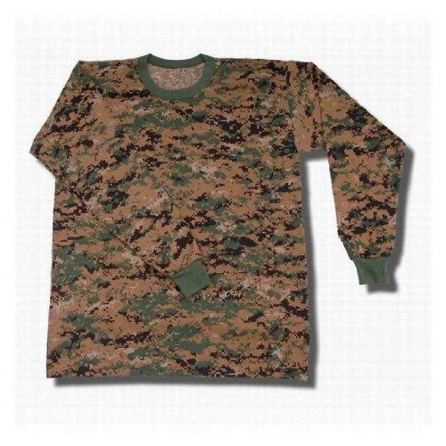 Tru-Spec 50/50 Camo Long Sleeve T-Shirt in Army Digital - Small