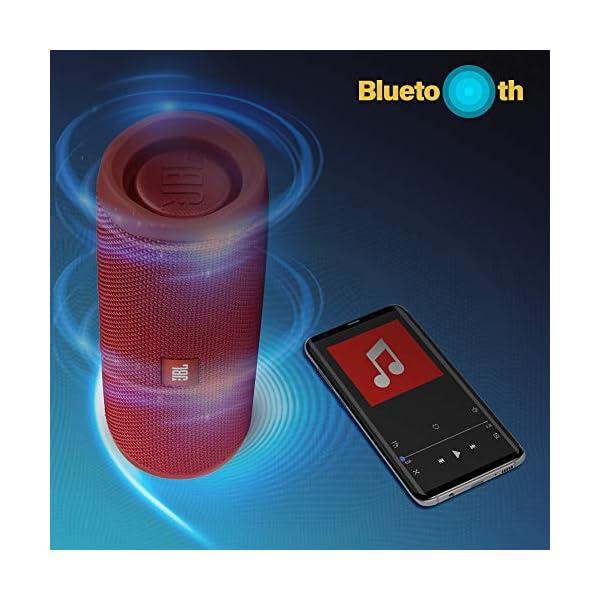 JBL Flip 5 Enceinte Bluetooth Portable avec Batterie Rechargeable, Étanche, Compatible Siri et Google, Rouge 5