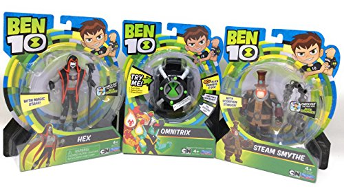 [Hot Seller Christmas Toy Ben Ten Omnitrix with Steam Smythe and Hex] (Cheap Homemade Alien Costumes)