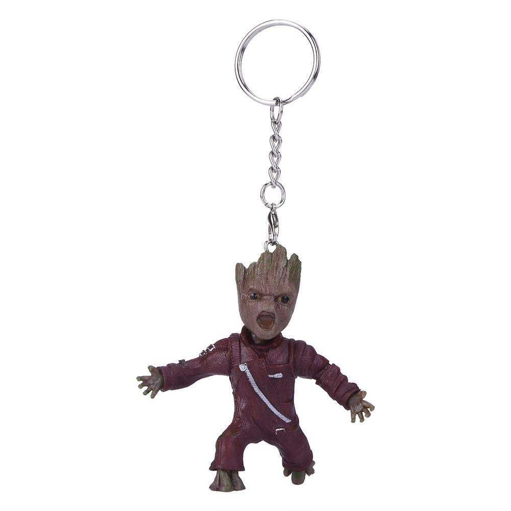 RuiDay Guardians of Galaxy Cartoon Árbol Hombre Keychain ...