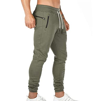 Heflashor Pantalones de chándal para Hombre 2 en 1, Ajustados, de ...