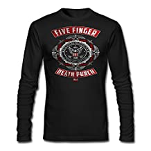 100% Cotton Men Rusted Five Finger Death Punch USA Logo Icon T-Shirts Long-Sleeve