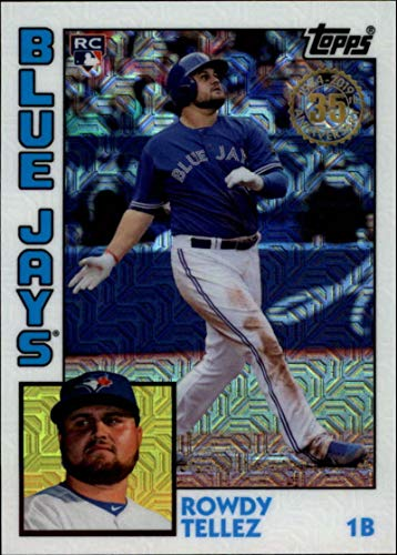 - 2019 Topps Series 2 Baseball Silver Wrapper Packs Chrome 1984 '84 Refractor #T84-42 Rowdy Tellez RC Rookie Toronto Blue Jays Official MLB Trading Card
