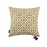 Decorative Pillow Cover - Aitliving Decorative Pillow Cover for Sofa Mina Decorative Cushion Cover for Bed Trellis Throw Pillow Covers Yellow Ochre Cotton Canvas 1 pc 20x20 inches(50x50cm)