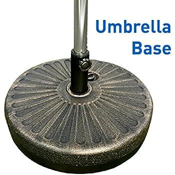 EasyGo Round Water Umbrella Base Weight U2013 Brown Undertone/Gold Finish U2013 50  Pound Water