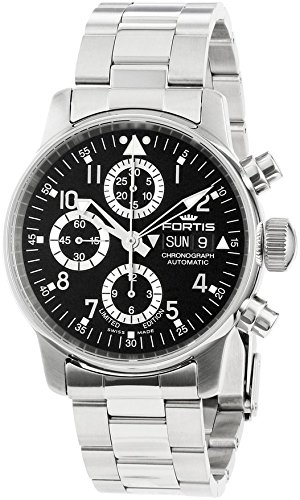 fortis-mens-5972071-m-flieger-stainless-steel-automatic-watch