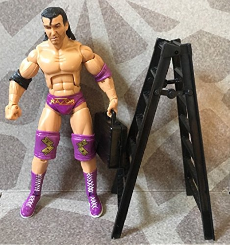 WWE WWF RAZOR RAMON BUILD AND BRAWL FIGURE LOOSE COMPLETE LADDER CASE HTF 2008 ()