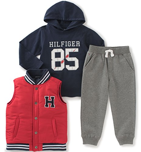 tommy-hilfiger-baby-3-piece-pants-set-solid-vest-red-3-6-months