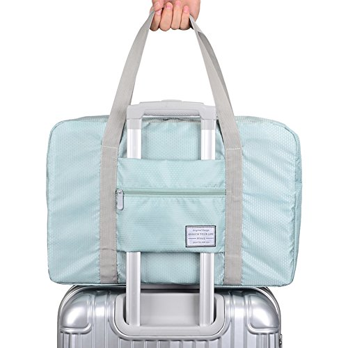 Arxus Travel Lightweight Waterproof Foldable Storage Carry Luggage Duffle Tote Bag (Mint Green) For Sale