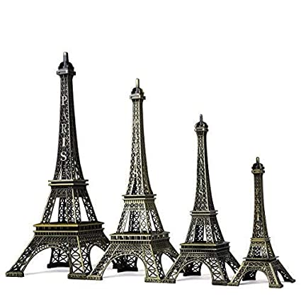 SICOHOME Eiffel Tower,7.0inch,Bronze Paris Small Eiffel Tower for Room Decor,Cake Topper,Gifts,Party and Home Decoration 6090042