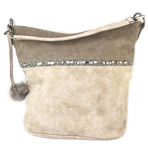 Bag 37x30x15 Designer Beige 'scarlett'taupe Cm rRrqtng1w