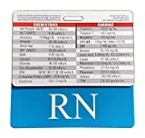 RN Horizontal Badge Buddy Bundle with Lab Values