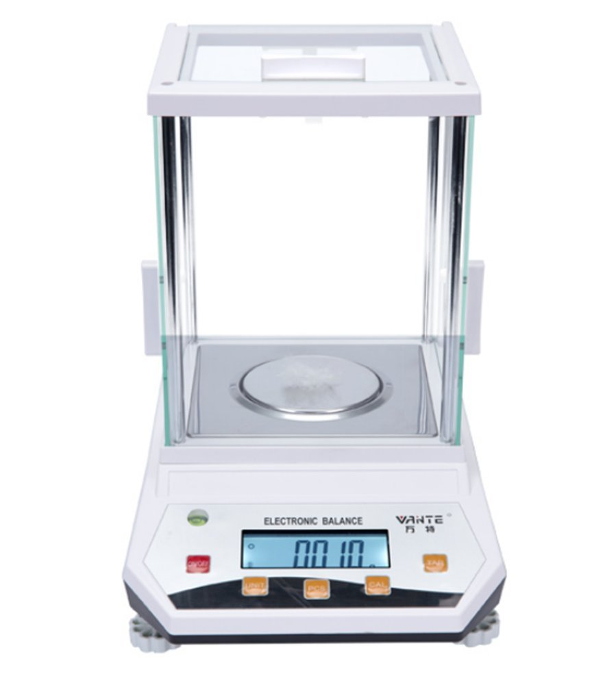 CGOLDENWALL Digital Analysis high Precision Laboratory Analytical Balance Jewelry Scale  High Wind Shield Electronic BalanceQuartile Scientific Research Balance 0.001g (200g, 0.001g)