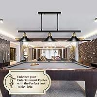 TYG – Lámpara de mesa de billar, Billard, luces de mesa de billar para 8 mesas, para jardín, comedor, iluminación colgante, candelabro rústico negro: Amazon.es: Iluminación