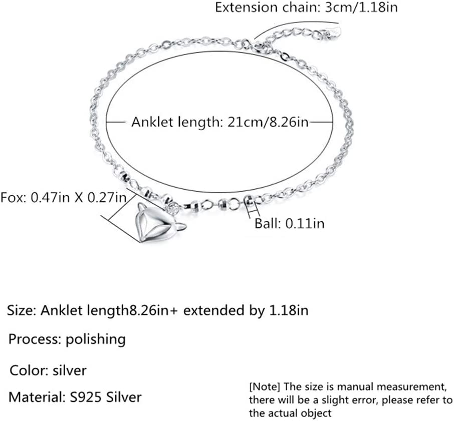 Damen Schmuck HXML S925 Sterling Silber Mode Fukettchen ...