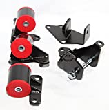 Engine Swap Conversion Motor Mounts Red for 96-00 Honda Civic F22 H23/H22
