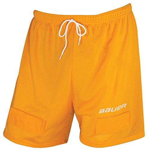 Bauer Core Mesh Jock Shorts, Orange, Men's,  Large