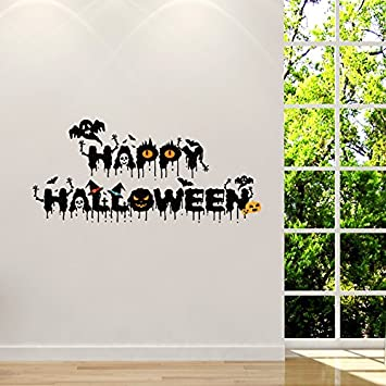 Bluelover Horrible Hallowen Crow Glas Fenster Decor Wandaufkleber