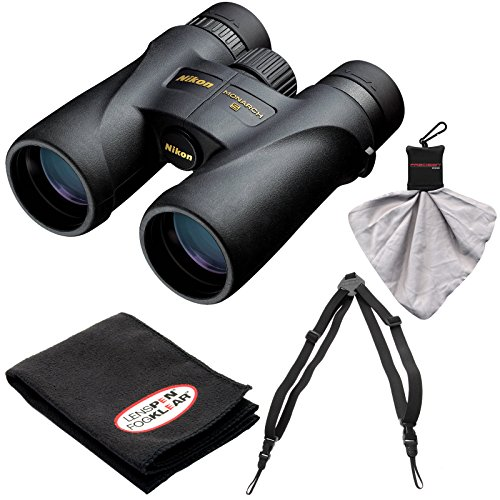 Nikon Monarch 5 12x42 ED ATB Waterproof/Fogproof Binoculars with Case + Easy Carry Harness + Cleaning Cloth Kit