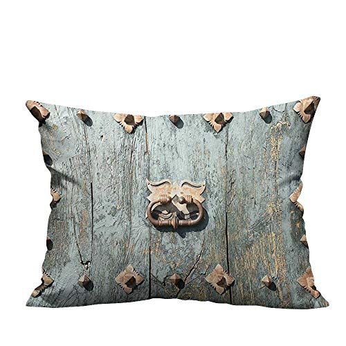 (YouXianHome Print Bed Pillowcases Cathedral Rusty Metallic Door Gothic Medieval Tim Spanish Washable and Hypoallergenic(Double-Sided Printing) 19.5x26 inch)