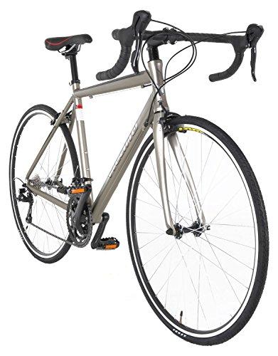 Vilano FORZA 3.0 Aluminum Carbon Shimano Sora Road Bike, Matte Silver, 53cm/Medium
