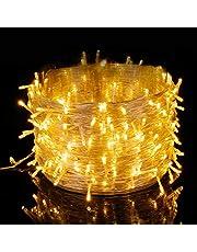 Elegear Guirnalda Luces Exterior Cadena de luz 500 LEDs 100M Impermeable Iluminación Interior o Exterior 8 Modos de Luz Decorativas para Navidad,Fiestas,Bodas,Dormitorio,Jardines, Bar(500LEDs*100M)