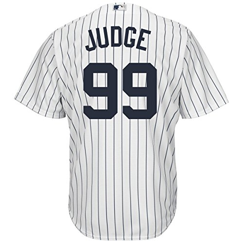 Aaron Judge New York Yankees #99 Youth Cool Base Home Jersey (Youth XLarge 18/20) (T-shirt Jacket Jersey)