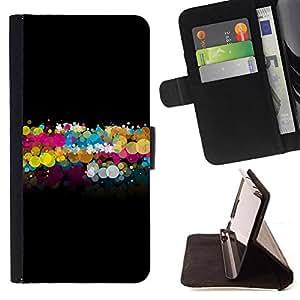 Kingstore / - Un Fondo Negro Con Diminuto hermosas Círculos de varios colores - LG Nexus 5 D820 D821