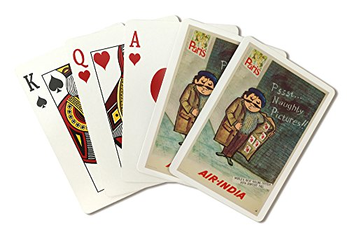 air-india-naughty-pictures-vintage-poster-india-c-1963-playing-card-deck-52-card-poker-size-with-jok