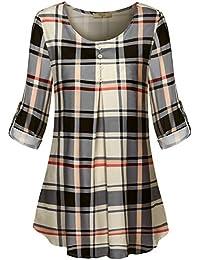 Women's Roll-up Long Sleeve Round Neck Layered Chiffon...