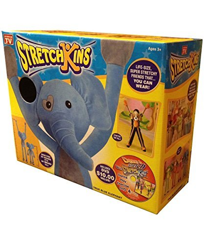 Stretchkins Elephant Life-Size Plush Toy That You Can Play, Dance, Exercise And Have Fun With Strecthkins by Strecthkins by Strecthkins
