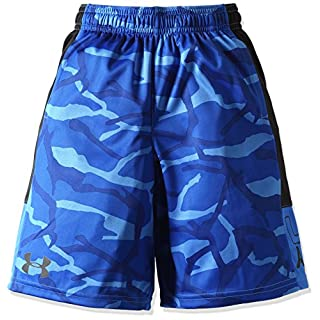Under Armour Boys' Instinct Printed Shorts, Ultra Blue /Black Youth X-Small