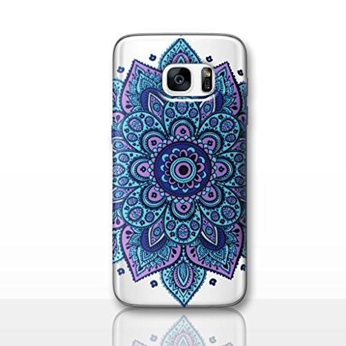 Mandala Funda/Cubierta del Teléfono para Samsung Galaxy S6 (G920) con Protector de Pantalla / Silicona Suave de Gel/TPU / iCHOOSE / Sol - Verde Atrapasueños Azul