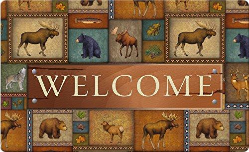 Toland Home Garden Quilted Wilderness Welcome 18 x 30 Inch Decorative Wildlife Floor Mat Bear Deer Doormat by Toland Home Garden