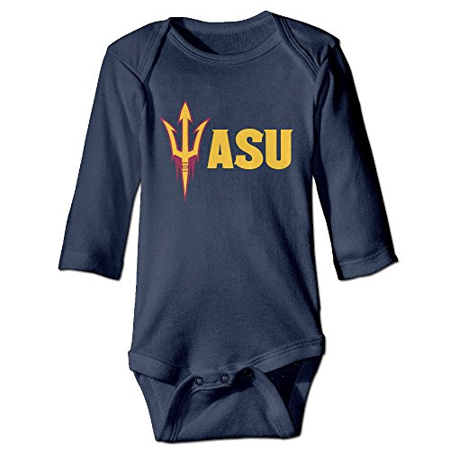 [ALEXBY Newborn Arizona State University Long Sleeve Jumpsuit Outfits For 18 M] (Roddy Piper Costume)