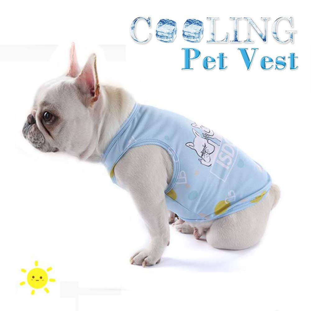 bluee Medium bluee Medium Breathable Dog Cooling Vest, Summer Dog Coat Outdoor Anti-Heat Jacket Clothes, Thin Vest, Prevention of Heat Stroke, for Small Medium Pet Dogs
