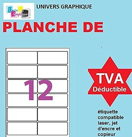500 A4 hoja de etiquetas papel de etiquetas 12 63,5 x 72 mm ...