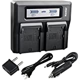 Kastar Fast Dual LCD Charger for Panasonic AG-VBR59 AG-VBR89G AG-VBR118G AG-DVC30 AG-HPX171 AG-HPX255 AG-HVX200 AG-HVX201 AJ-PCS060 AJ-PX230 AJ-PX270 AJ-PX270PJ AJ-PX298 AJ-UX180 AJ-UX90 HC-MDH2