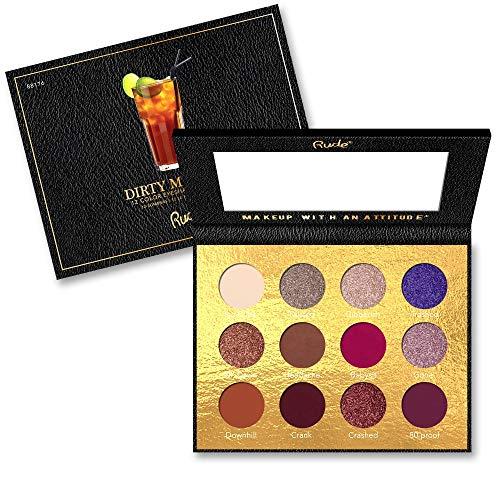 皮より平らな財団RUDE? Cocktail Party 12 Color Eyeshadow Palette - Dirty Mother (並行輸入品)