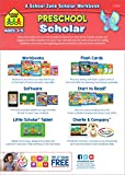 Preschool Scholar Workbook, Ages 3-5, tracing letters & numbers, learning shapes & colors, animal names, playful motivation