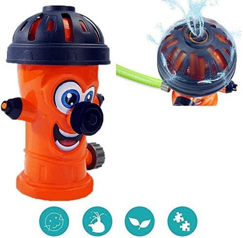 "FANPING 子供のための消火栓の水スプリンクラー、水スプレー玩具、8フィート標準ガーデンホース&スプレーアップにアタッチし、対策8.66"" ハイ (Size : Orange)"