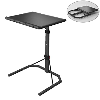 Amazon Com Lzttyee Plus Size Folding Tv Tray Table Adjustable