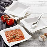 MALACASA Dinner Plates Set,Porcelain Salad Pasta