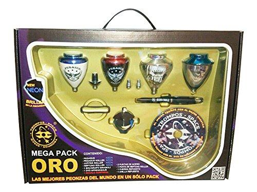 Xtreme Mega Pack Oro Neon - Maletín peonzas, color oro neón (Space 008000041): Amazon.es: Juguetes y juegos
