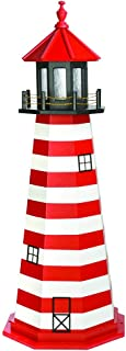 product image for DutchCrafters Decorative Lighthouse - Wood, West Quoddy Style (5', Red/White/Black)